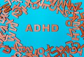 Word Adhd From Wooden Letters poster