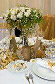 Mesa para la cena de boda
