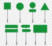 Road Board Highway Signs Icons. Vector Street Signboard Information Pointer, Street Direction Road S poster