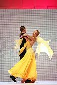 ZAGREB, CROATIA - FEBRUARY 4: Couple dancing on 'Wedding days' show, February 4, 2011 in Zagreb, Cro