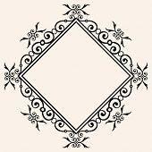 lozenge decorative frame
