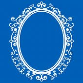 silhouette picture of oval frame