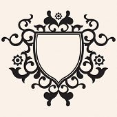 floral escutcheon