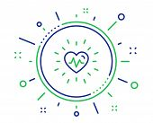 Heartbeat Line Icon. Medical Hear Beat Sign. Medicine Symbol. Quality Design Elements. Technology He poster