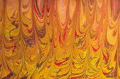 Acrylic Liquid- Mixed Fluid Paints Art Work poster