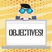 Handwriting Text Objectives. Concept Meaning Goals Planned To Be Achieved Desired Targets Company Mi poster