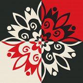 geometric inverse ornament, vector design elements