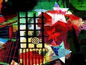 avant-garde collage, digital painting