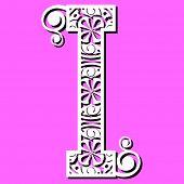 Постер, плакат: Ажурный алфавит буква I