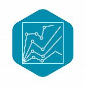 Financial Statistics Icon. Outline Illustration Of Financial Statistics Vector Icon For Web Design poster
