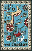 hand drawn tarot deck, major arcana, the raster version, the chariot