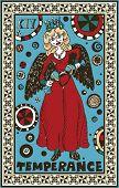 hand drawn tarot deck, major arcana, the raster version, temperance
