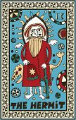 hand drawn tarot deck, major arcana, the raster version, the hermit