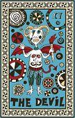 hand drawn tarot deck, major arcana, the raster version, the devil