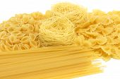 Spaghetti Assortment Isolated poster