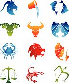 Colourful Zodiac Star Signs