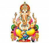 Seated  Ganesha Hindu Lord Faith Mythology Bless God Illustration  Asia Mouse poster