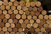 wine corks tops close-up