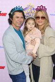 BURBANK - NOV 10: Lou Diamond Phillips, daughter Indigo, wife Yvonne at the premiere of Disney Channels' 'Sofia The First: Once Upon a Princess' on November 10, 2012 in Burbank, California