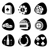 Vector illustration of icons on the subject of gambling