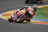 CHESTE - NOVEMBER 11: Dani Pedrosa during MOTOGP Race of the Comunitat Valenciana, on November 11, 2