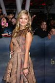 LOS ANGELES - NOV 12:  Olivia Holt arrive to the 'The Twilight Saga: Breaking Dawn - Part 2