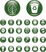 nature icons, buttons set, vector