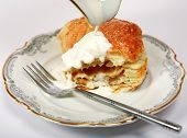 Apple Turnover And Cream