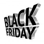 Black Friday 3d metal text