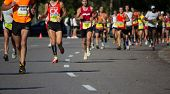 VALENCIA, SPAIN - OCTOBER 21: Runners compete in the XXI Valencia Half Marathon on October 21, 2012