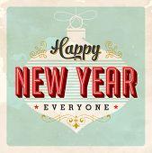 Vintage Generic New Year's Eve Card - JPG Version