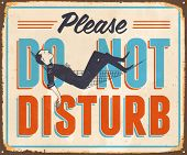 Vintage Metal Sign - Please Do Not Disturb - JPG Version