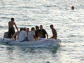 Alanya, Turkey - September 03, 2008: People Are Swim In Mediterranean Sea On September 03, 2008 In A