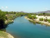 Manavgat River In Side, Antalya Region, Turkey