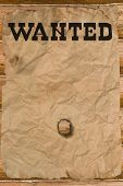 Wanted Poster With A Hole