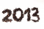 Happy New Year 2013 on tea
