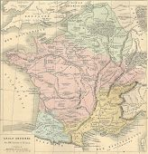 picture of gaul  - Antique map of Ancient Gaul  - JPG
