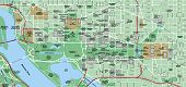 Washington Dc Local Street Map - The Mall