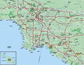 Los Angeles Metropolitan Area Map
