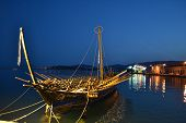 picture of argo  - Argos the golden fleece replica boat in Volos harbour - JPG
