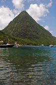 The Pitons In Saint Lucia