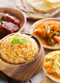 pic of biryani  - Indian meal biryani rice - JPG