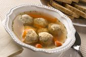 Traditional Jewish Passover Dish Matzah Ball Soup