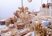 Handmade Wooden Kitchen Utensil Tools Market Fair