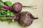 image of exhumed  - a raw beets from the garden - JPG