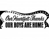 Our Boys Are Home Banner - Retro Clip Art Illustration