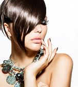 pic of silver-hair  - Fashion Model Girl Portrait - JPG