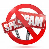 No Spam Allow Illustration Design