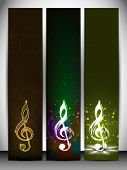 Musical banner set.
