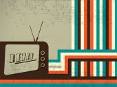 Vintage background with radio design.